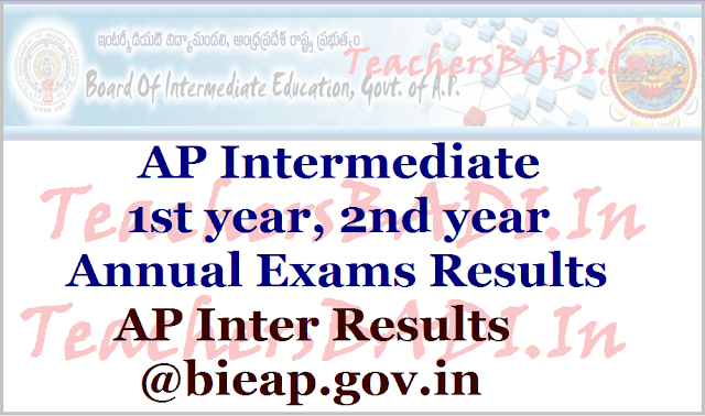 AP Inter results, AP Inter 1st year results, ap inter 2nd year results