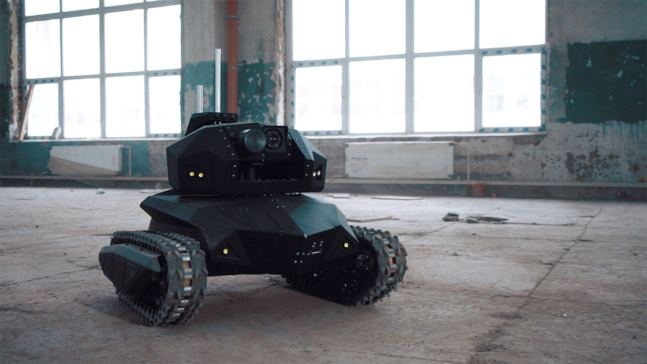 Russian Robot Scorpio Can Climb Stairs And Blow Up Bombs