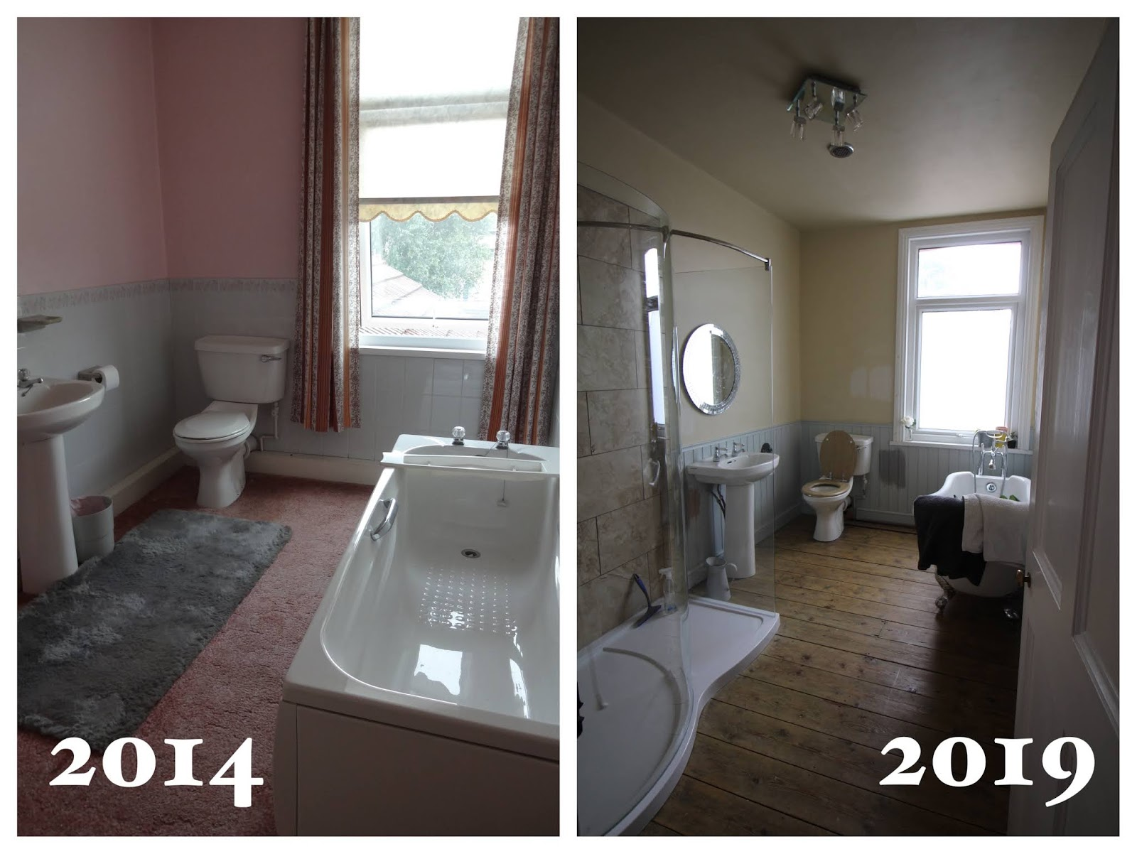 bathroom renovation before and after 5 years