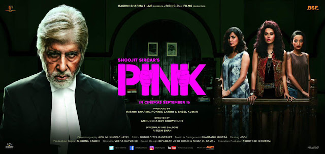 Pink, Movie Poster, Amitabh Bachchan