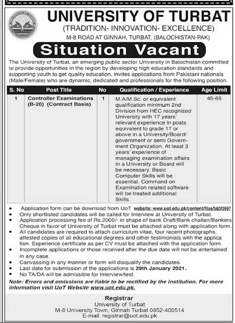 university-of-turbat-jobs-2021-download-application-form