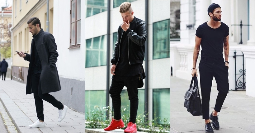 "Looks masculinos ""all black"" para se inspirar"