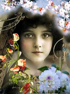 Gambar Ilustrasi Bunga Hiasan Sang Gadis Jelita