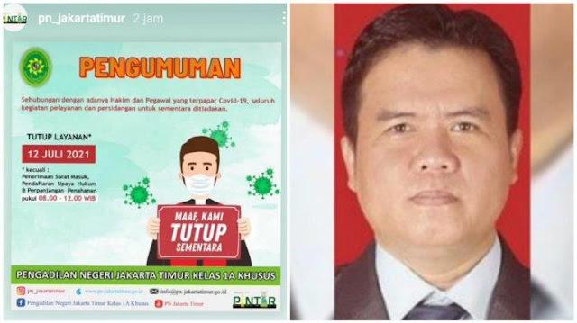 Usai Anggota Majelis Hakim yang Vonis HRS Meninggal, PN Jaktim Tutup Layanan karena Covid-19