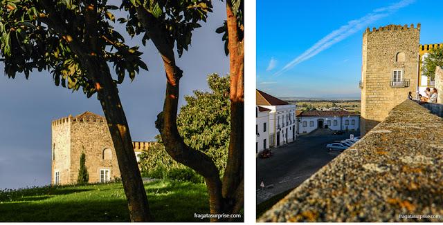 Torres nas muralhas de Évora