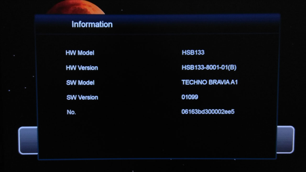 Software Techno Bravia A1 New Update Firmware Receiver