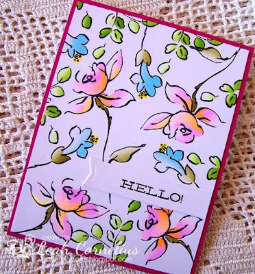 Chameleon Pens, Leah Cornelius, Altenew Golden Garden, handmade card