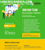 Walk In Interview Surabaya di Infinity Plus Solution Juni 2020