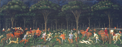 the hunt in the forest by paolo ucello