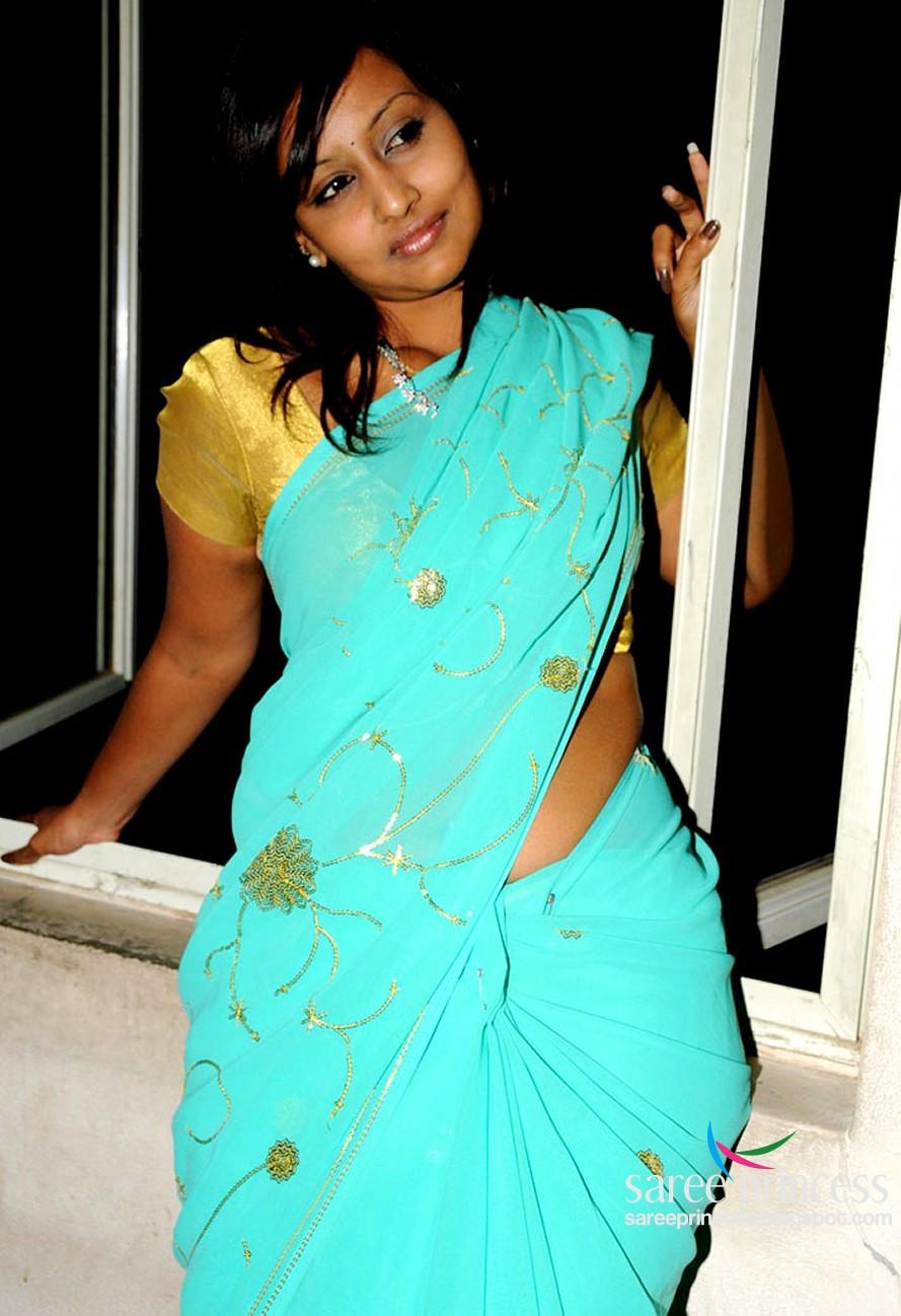 Tamil B Grade Actress Ishika Sizzling Hot In A Blue Saree Pics-5510
