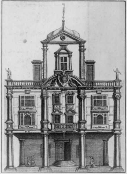 Dorset Garden Theatre in 1673