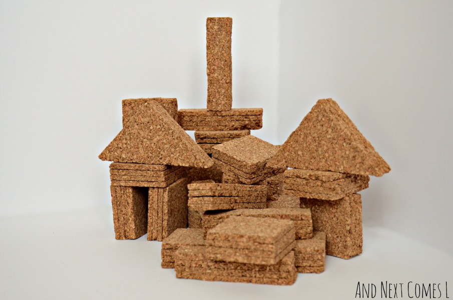 DIY cork building blocks tutorial from And Next Comes L