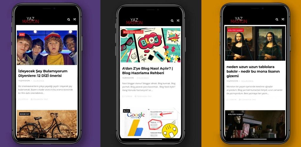 Blogumun Mobil Uygulamasını Yaptım: Yazmasyon Play Store'da
