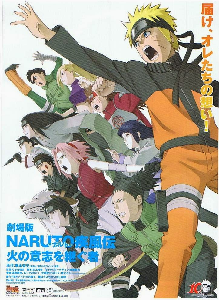Naruto Shippûden The Movie 3: Inheritors of the Will of Fire (2009) Bluray