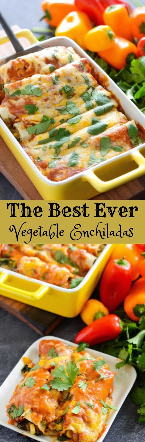 VEGETABLE ENCHILADAS RECIPE #vegetarian #recipe