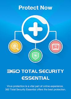 360 Total Security Essential  احد افضل برامج مكافحة الفيروسات Antivirus، يمكنك عمل فحص وكشف جميع الفيروسات والتروجان