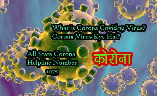 corona virus kya hai puri jankari corona helpline number