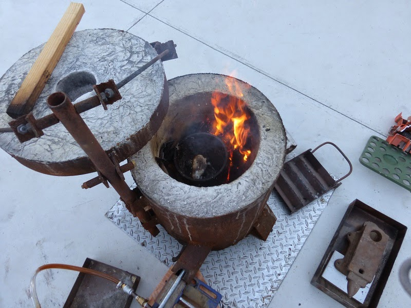 starting furnace with wood fire