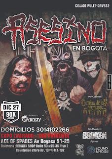 "Concierto ""ASESINO"" en Bogotá 2019"