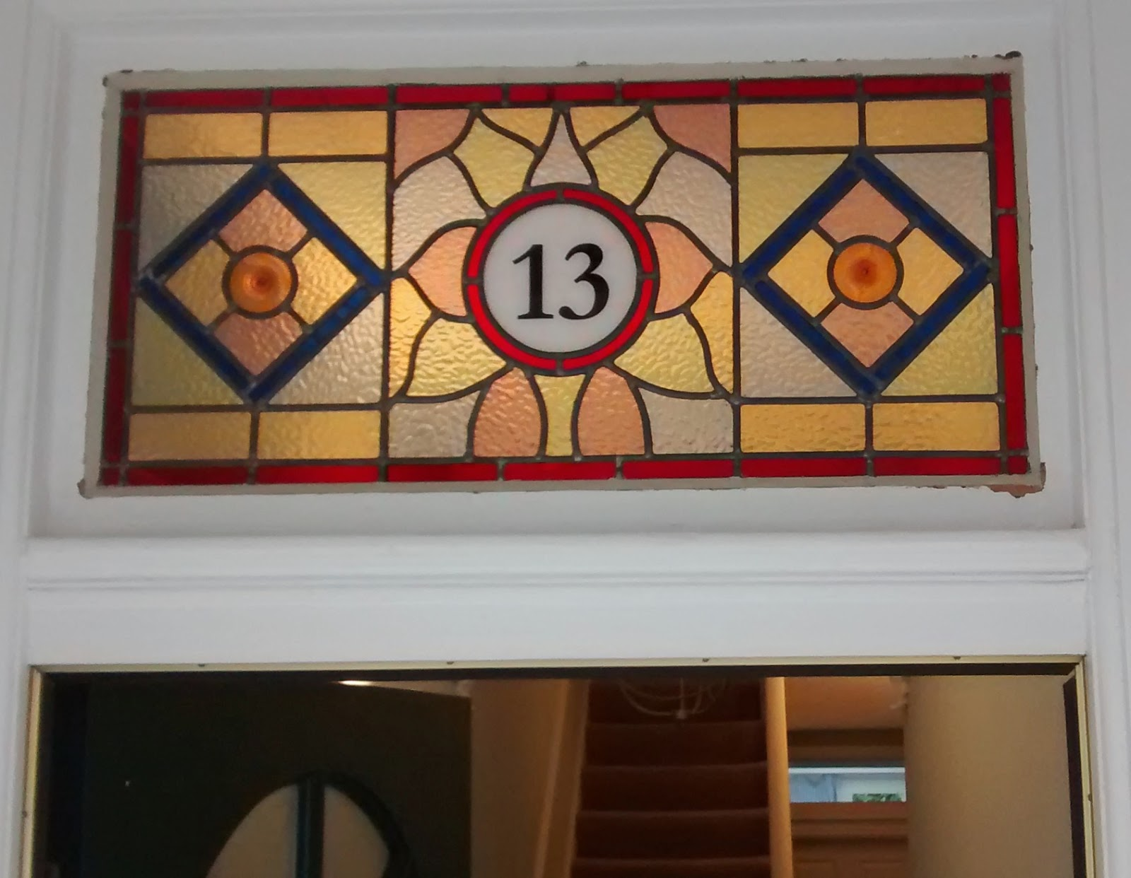 Stained glass house number Streatham