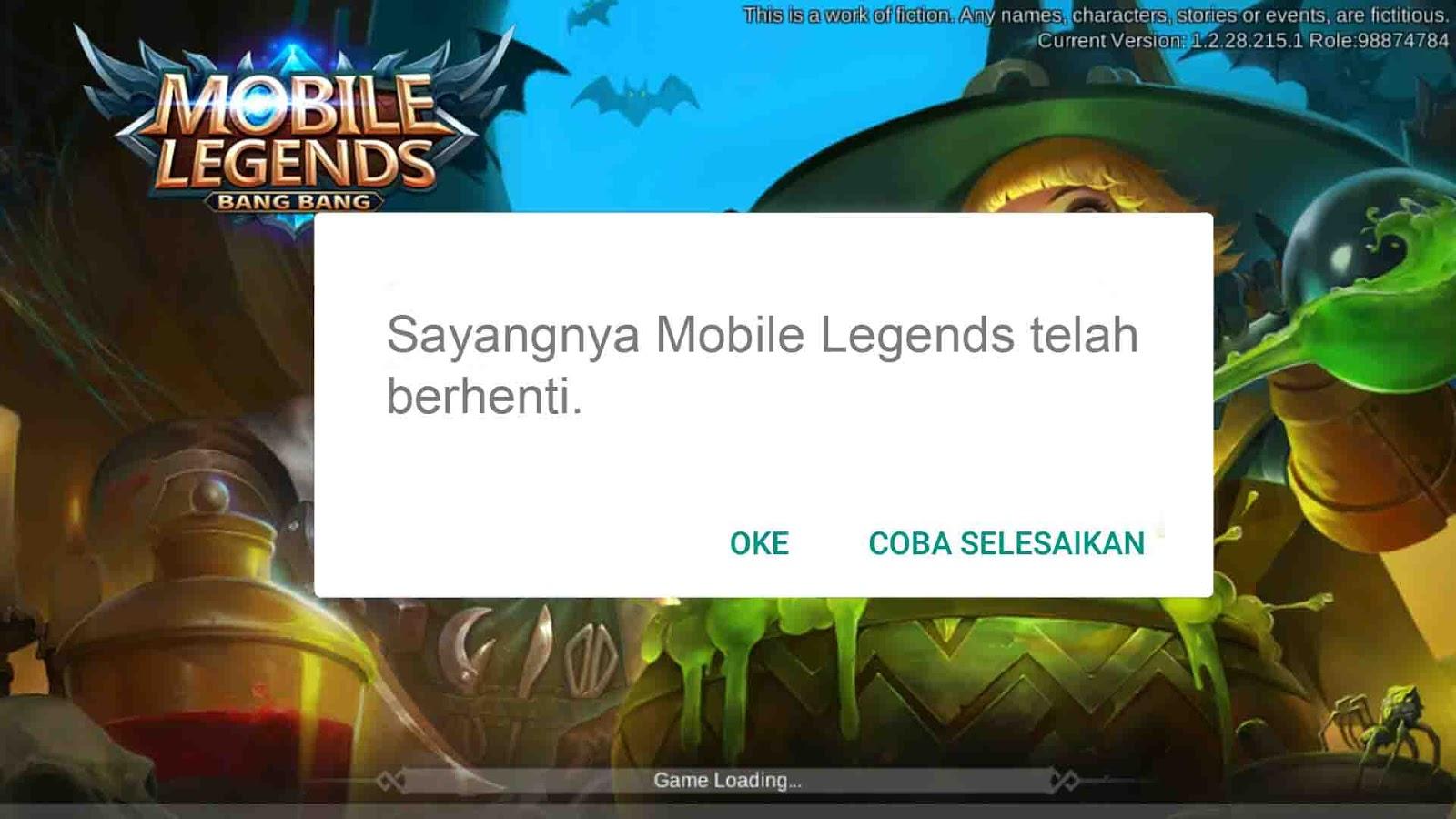 sayangnya mobile legends telah berhenti