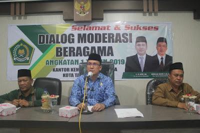 Kemenag Tanjungbalai Gelar Acara Dialog Moderasi Beragama