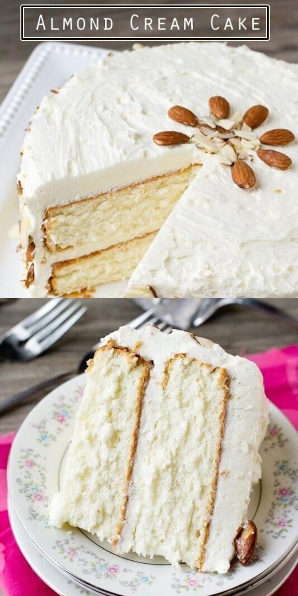 Almond Cream Cake #Cakerecipes