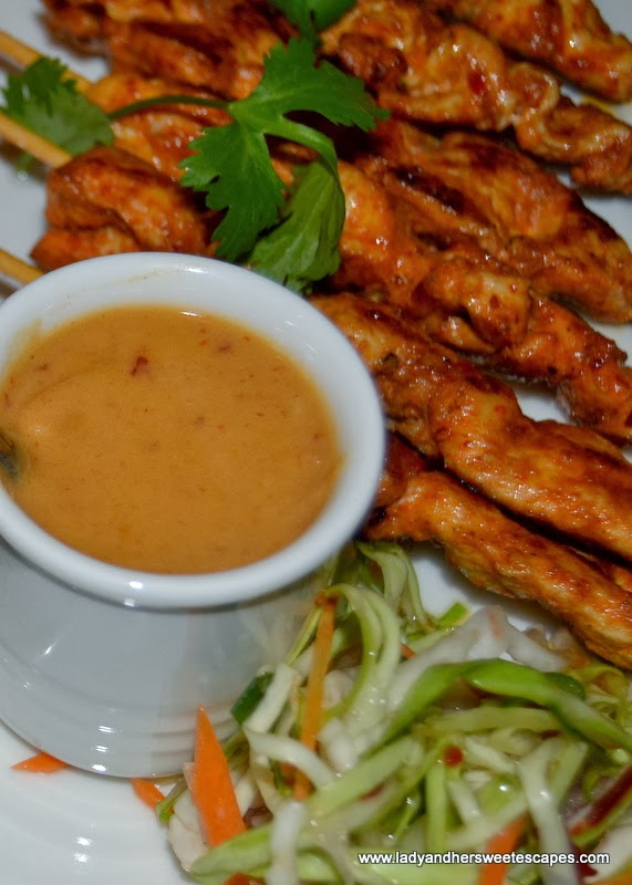 Sizzling Wok's Satay Skewers with Nutty Sauce