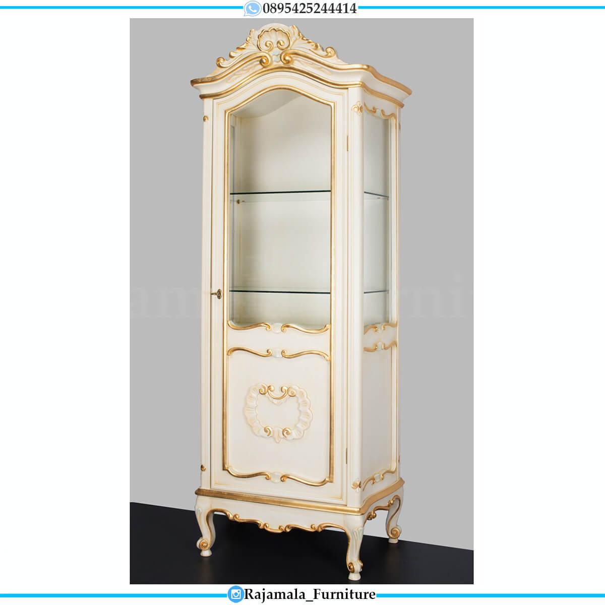 Lemari Hias Mewah Luxury Style Furniture Jepara Terbaru RM-0677