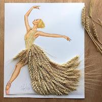 Arte con collage de comida - trigo