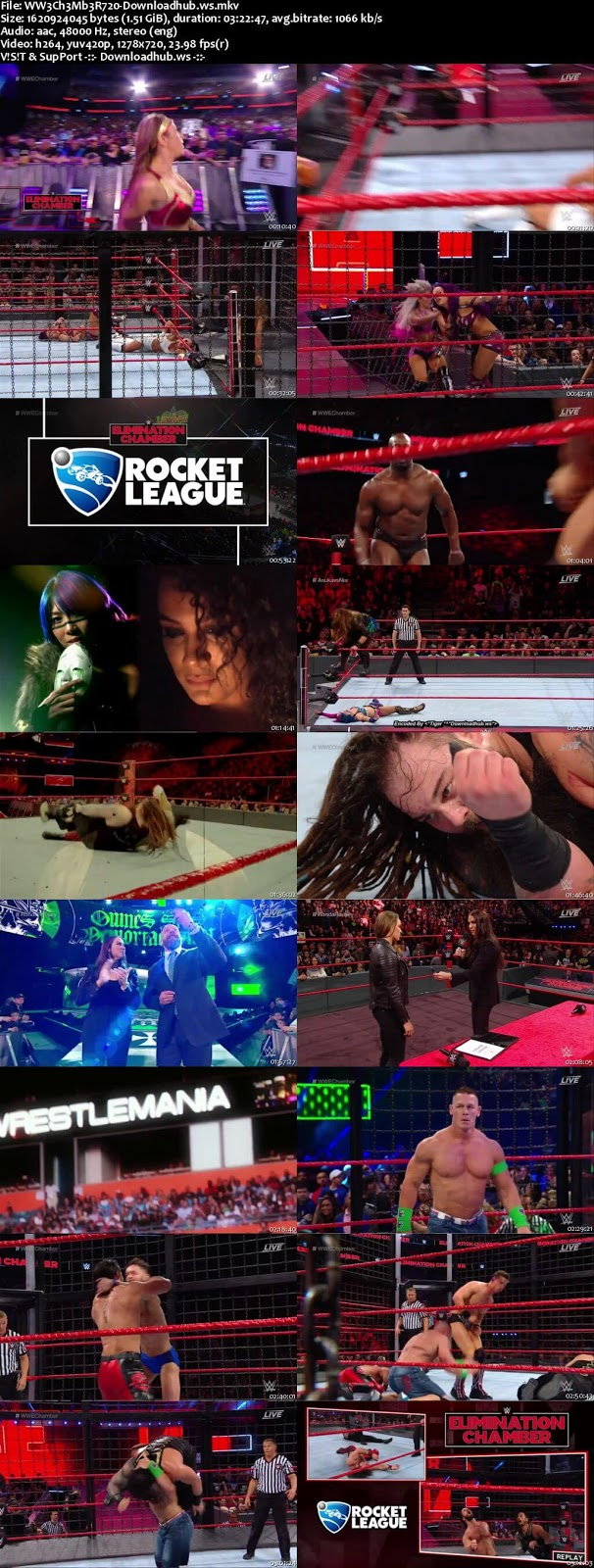 WWE Elimination Chamber 25 February 2018 720p WEBRip Download