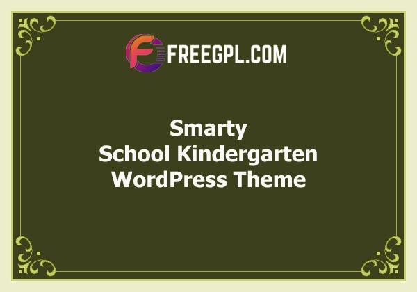 Smarty – School Kindergarten WordPress Theme Free Download