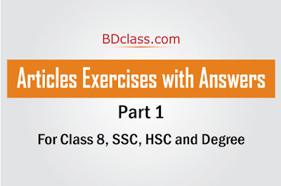 Articles Exercises with Answers