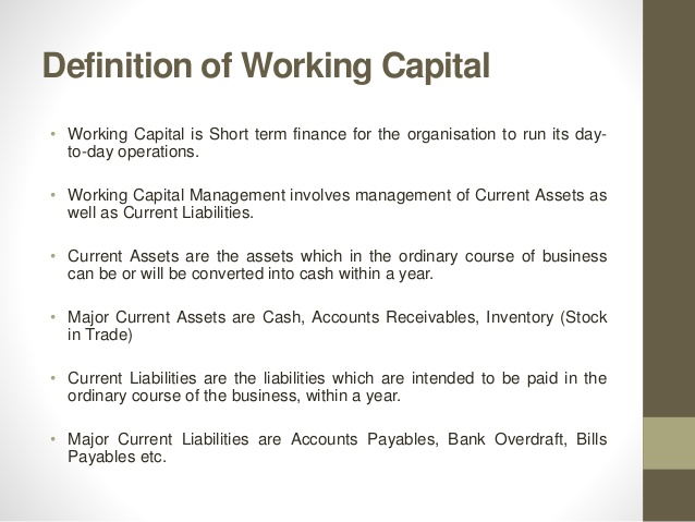 Working Capital Loan ~ Banking System & Bank Management