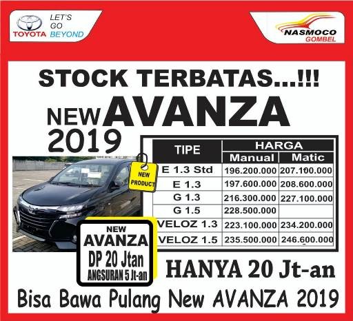Informasi mengenai daftar harga mobil Toyota terbaru di Nasmoco Toyota Gombel Semarang  Demak, Pati, Kudus, Purwodadi, Salatiga, Kendal, Jepara, Ungaran