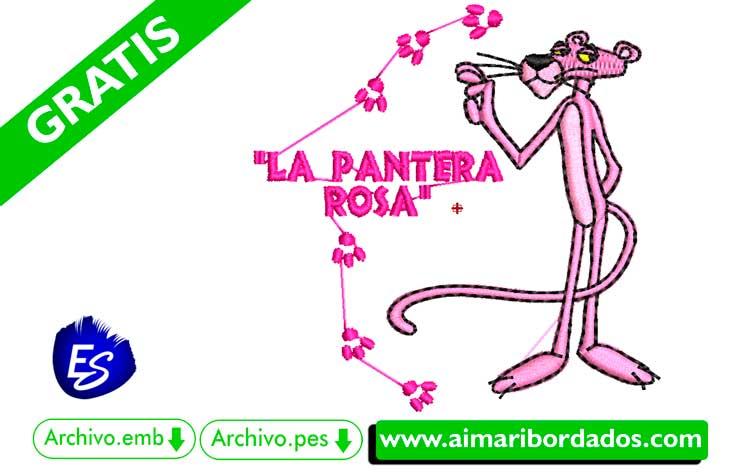 Pantera Rosa para bordar a máquina DESCARGA GRATIS