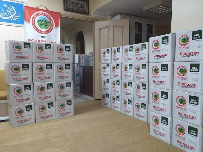 Bozkırlılar Vakfı yardımlarına  Ramazan ayında da devam etti