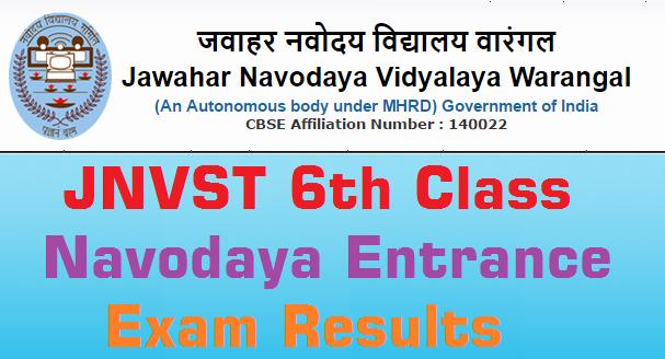 Warangal,Navodaya Entrance Test,Results 2016