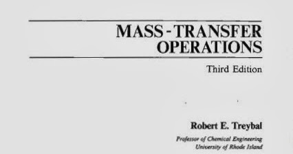 Chemical Engineering Books- Mass Transfer Operations