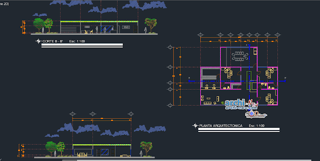 Arts center in AutoCAD