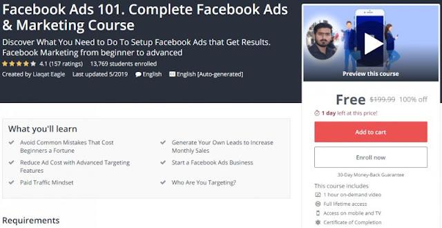 [100% Off] Facebook Ads 101. Complete Facebook Ads & Marketing Course Worth 199,99$