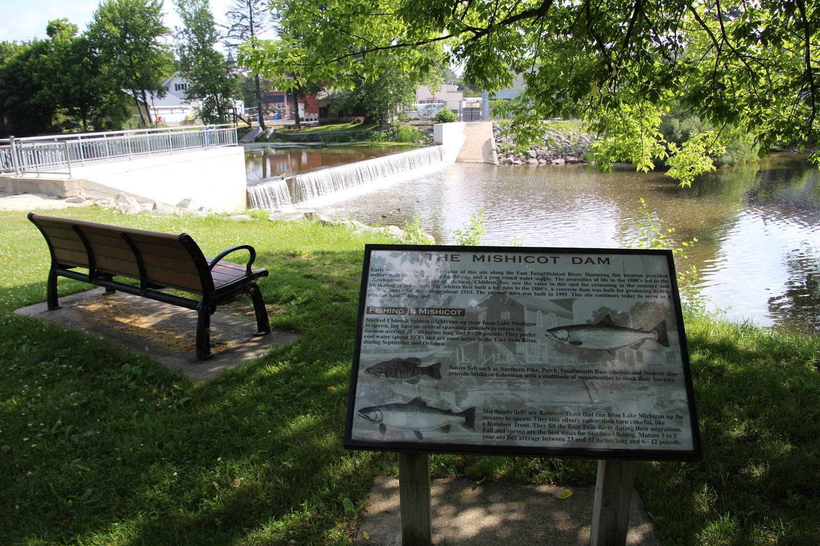 Wisconsin Historical Markers: The Mishicot Dam