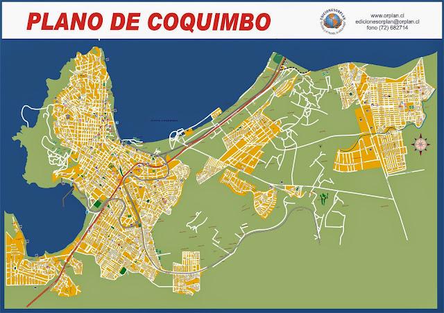 Mapa de Coquimbo - Chile