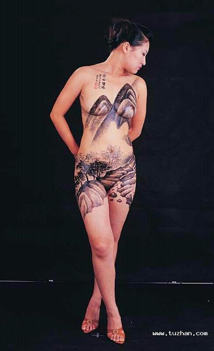 Chinese hot body painting