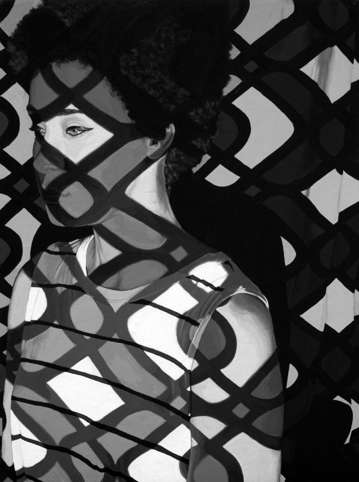 Черно-белая портретная живопись. Rebecca Mason Adams