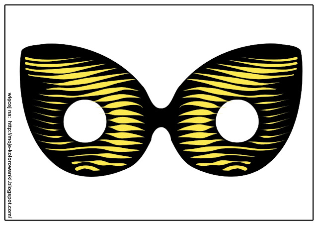 Ojos de hormiga para antifaz de carnaval