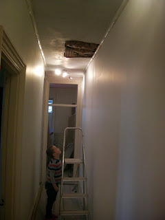 replastering ceiling