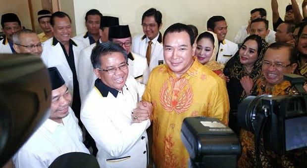 Tiba di Kantor DPP PKS, Tommy Soeharto Disambut Petinggi Partai