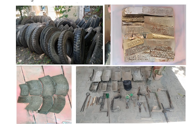 थाना जूही पुलिस द्वारा अन्तर्जनपदीय गैंग के 04 अभियुक्तों को गिरफ्तार किया गया, मौके से 70 टायर व उपकरण बरामद