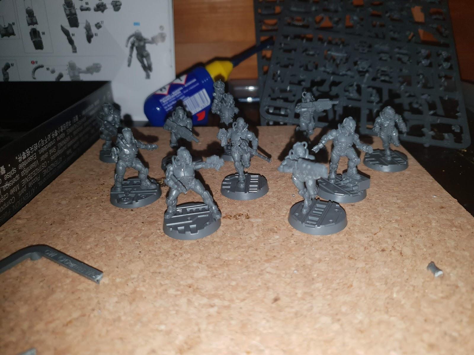 40k Necromunda Orlock Gang Body and Legs Bits